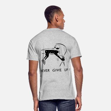 Think Positive Never give up - Men's 50/50 T-Shirt