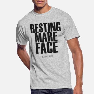 Mare Resting mare face the cinchy cowgirl - Men's 50/50 T-Shirt