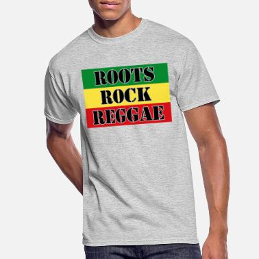 Reggae Music Roots, Rock, Reggae, dis a reggae music Rasta Flag - Men's 50/50 T-Shirt