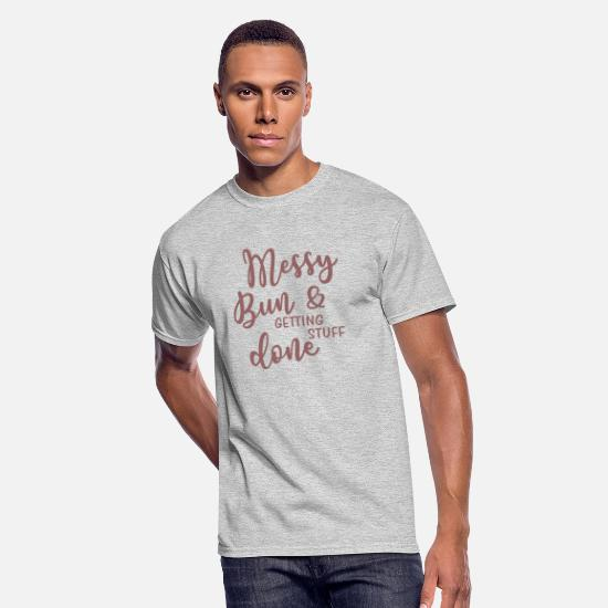 Positive T-Shirts - Messy Gift tee Shirt - Men's 50/50 T-Shirt heather gray