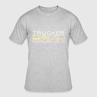 Trucker Life - Men's 50/50 T-Shirt