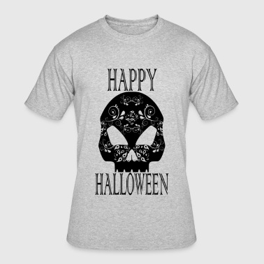 Happy Halloween Skull - Men's 50/50 T-Shirt