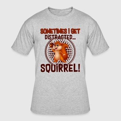FUNNY DISTRACTED SQUIRREL T SHIRT - Men's 50/50 T-Shirt