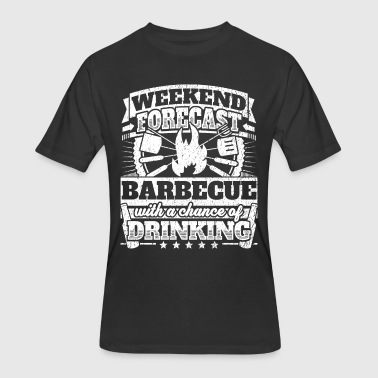 Weekend Forecast Barbecue Drinking Tee - Men's 50/50 T-Shirt
