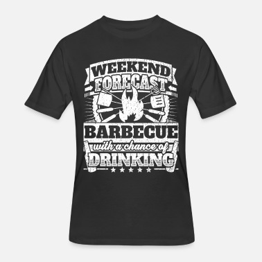 Barbecue Weekend Forecast Barbecue Drinking Tee - Men's 50/50 T-Shirt