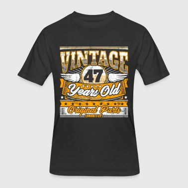 Funny 47th Birthday Shirt: Vintage 47 Years Old - Men's 50/50 T-Shirt