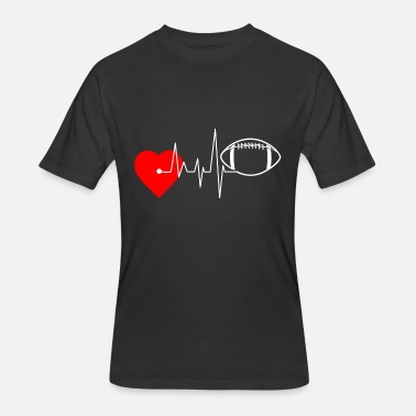 The Heartbeat Of Football Heartbeat Football - I Love Football - Men's 50/50 T-Shirt