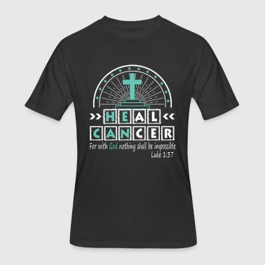 Heal Cancer With God Christian Cancer - Men's 50/50 T-Shirt