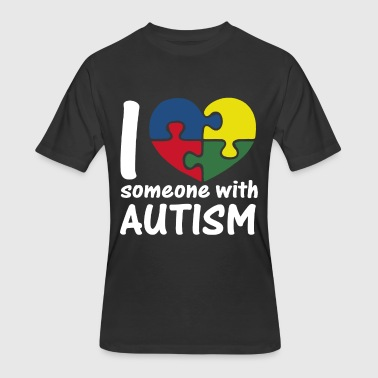 I Love Someone With Autism - Men's 50/50 T-Shirt
