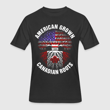 Canadian With American Root American Grown Canadian Roots - Men's 50/50 T-Shirt