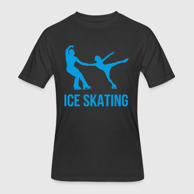 Ice Skating - Men's 50/50 T-Shirt