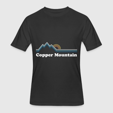Retro Copper Mountain Colorado Vintage Sunrise Tee - Men's 50/50 T-Shirt