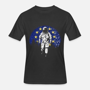 Euro Land Astronaut moon Europe flag stars gift idea - Men's 50/50 T-Shirt