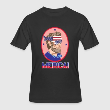 Abe Lincoln Funny Abe Lincoln - Men's 50/50 T-Shirt
