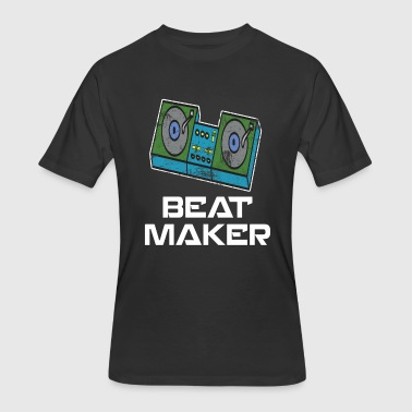 Retro Vinyl DJ Gift Music Djane Old school deejay new beat maker - Men's 50/50 T-Shirt