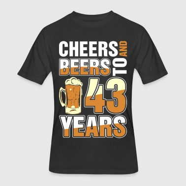 Celebrating 43 Years Cheers And Beers To 43 Years - Men's 50/50 T-Shirt