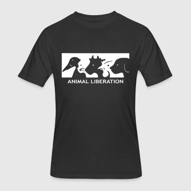 ALF Animal Liberation Front animal rights activist - Men's 50/50 T-Shirt