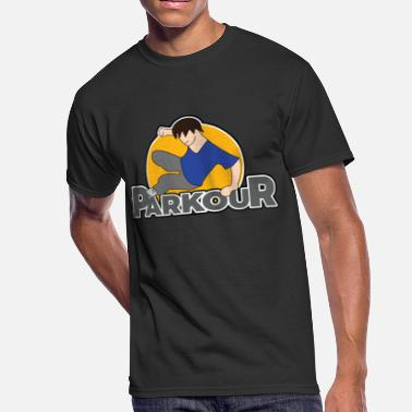 Parkour Youth Awesome and Cool Parkour Tshirt Design Parkour Logo - Men's 50/50 T-Shirt