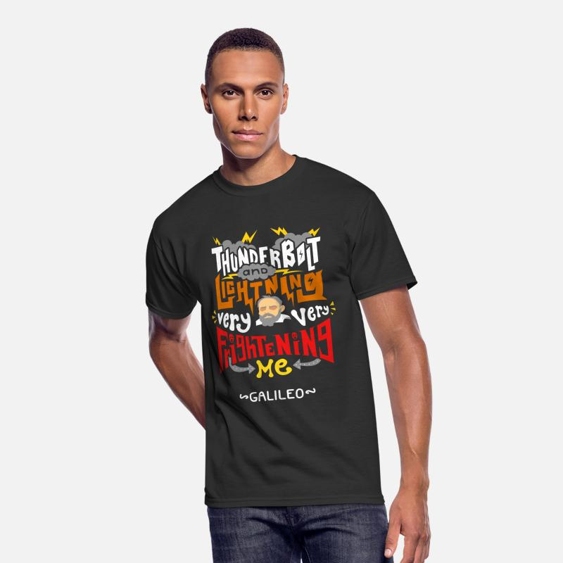 d01cc2f0d Bohemian T-Shirts - Thunderbolt And Lightning Very Frightening Galileo -  Men's 50/50