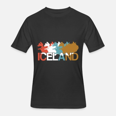 Iceland Map Iceland map - Men's 50/50 T-Shirt