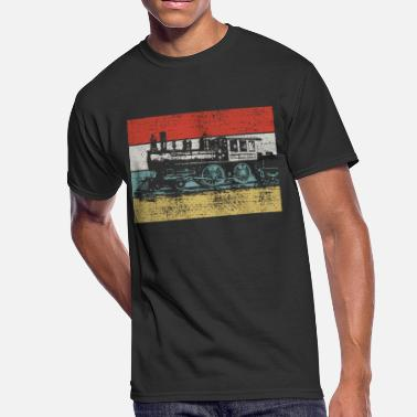 Steam Locomotive Vintage steam locomotive - Men's 50/50 T-Shirt