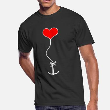 Harbor Port Of Hamburg Anchor harbor love - Men's 50/50 T-Shirt
