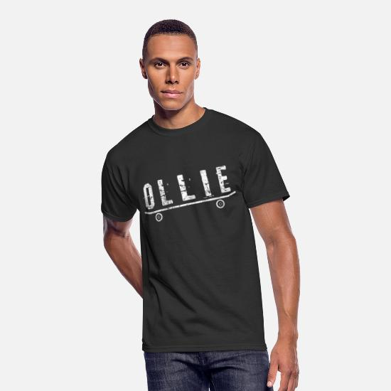 Gift Idea T-Shirts - Skater Ollie skateboard - Men's 50/50 T-Shirt black