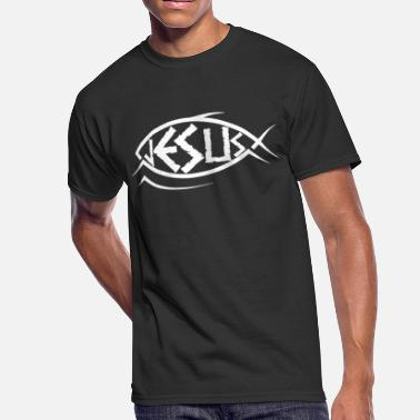 Religion Catholic Jesus Fish Christian Catholic Faith God Religion - Men's 50/50 T-Shirt