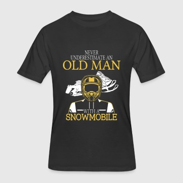 Snowmobile - An old man with a snowmobile t - sh - Men's 50/50 T-Shirt