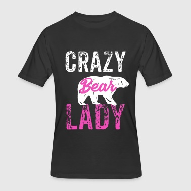 Grizz Crazy Bear Lady, Bear Lover, Grizzely Lover - Men's 50/50 T-Shirt