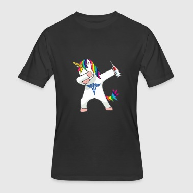 Dabbing Nurse Unicorn - Men's 50/50 T-Shirt