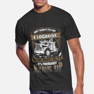Logbook Trucker - I don't always fill out a logbook - Men's 50/50 T-Shirt