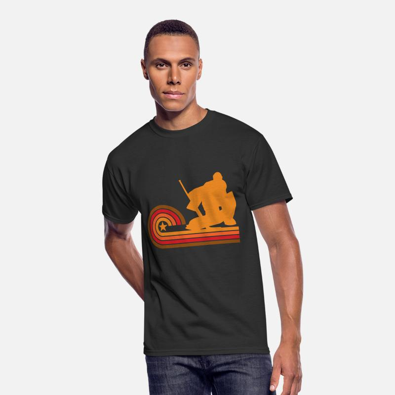Goalie T-Shirts - Retro Style Hockey Goalie Vintage - Men s 50 50 T 1f3593236