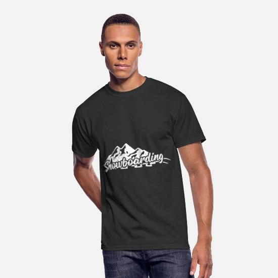 Gift Idea T-Shirts - Snowboarding Mountain snowboarder gift alpine ski - Men's 50/50 T-Shirt black