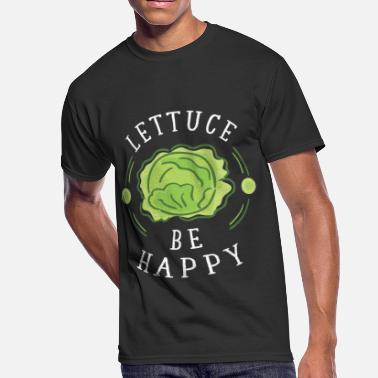 463cc71a1 Lettuce Quotes Lettuce be happy - Men's 50/50 T-