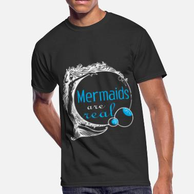 Mermaids mermaids are real gift - Men's 50/50 T-Shirt