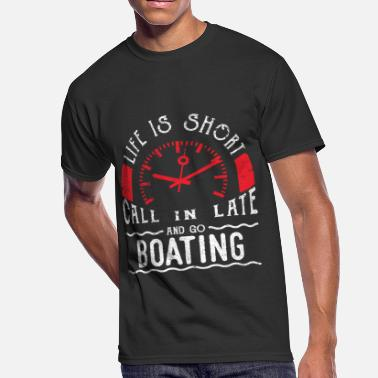 Boat House Life Is Short Boating Shirt Funny Boat Shirt Go Boating Shirt Lake Shirt - Men's 50/50 T-Shirt