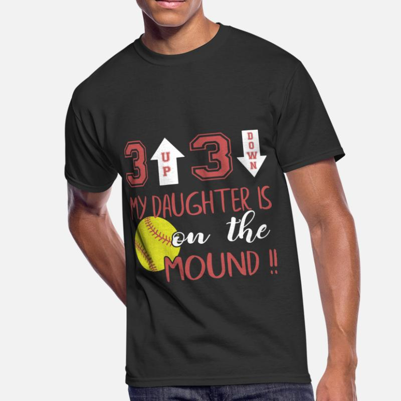 b8c8114a Shop My Favorite Softball Player Calls Me Dad T-Shirts online ...