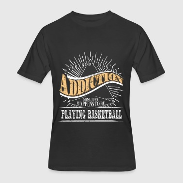 Youth Basketball Addiction Is Playing Basketball Shirt Gift Youth Basketball - Men's 50/50 T-Shirt