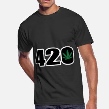 Keep Calm And Smoke Weed Everyday 420 Weed Ganja Leaf Cannabis Culture Stone - Men's 50/50 T-Shirt