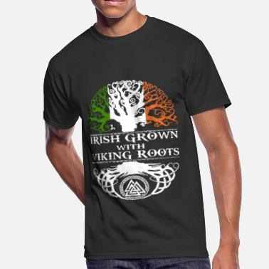 Root Me IRISH GROWN VIKING ROOTS - Men's 50/50 T-Shirt