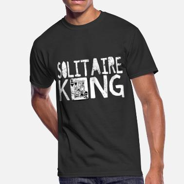 Solitaire Solitaire King Card Games Fun Shirt - Men's 50/50 T-Shirt