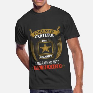 Modern Army Combatives forever grateful us army is ingrained into my bloo - Men's 50/50 T-Shirt
