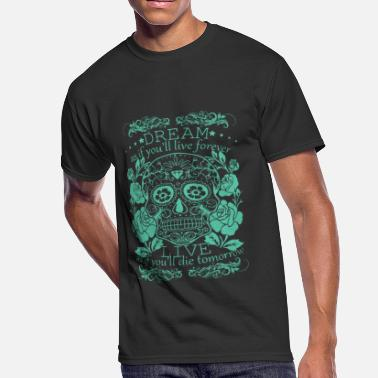 Fuck Sugar Awesome Sugar Skull irish t Shirts - Men's 50/50 T-Shirt