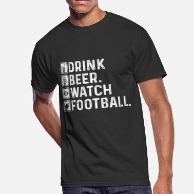 3eaa84e2da8 Michigan Football Funny Drink Beer. Watch Football - Funny Football Design  - Men'