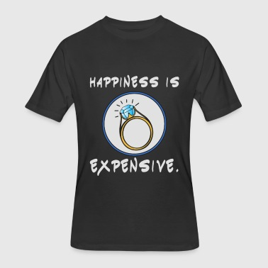 Happiness Is Expensive Great & Funny Expensive Tshirt Design Happiness is expensive - Men's 50/50 T-Shirt