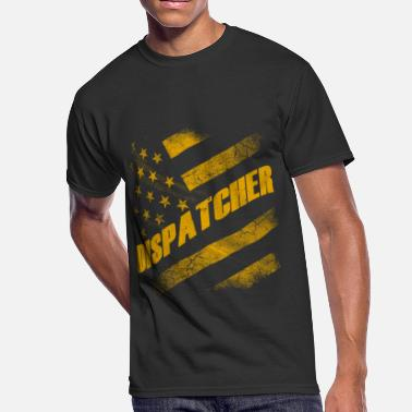 American Dispatcher Dispatcher - American flag T-shirt - Men's 50/50 T-Shirt