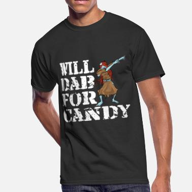 Funny Halloween Zombie Girl Will Dab For Candy. - Men's 50/50 T-Shirt