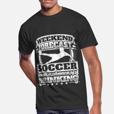 Soccer Drinking Weekend Forecast Soccer Drinking Tee - Men's 50/50 T-Shirt