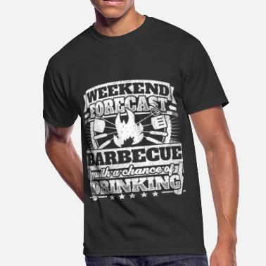 8e0565951b0 Barbecue Weekend Forecast Barbecue Drinking Tee - Men  39 s 50 50 T